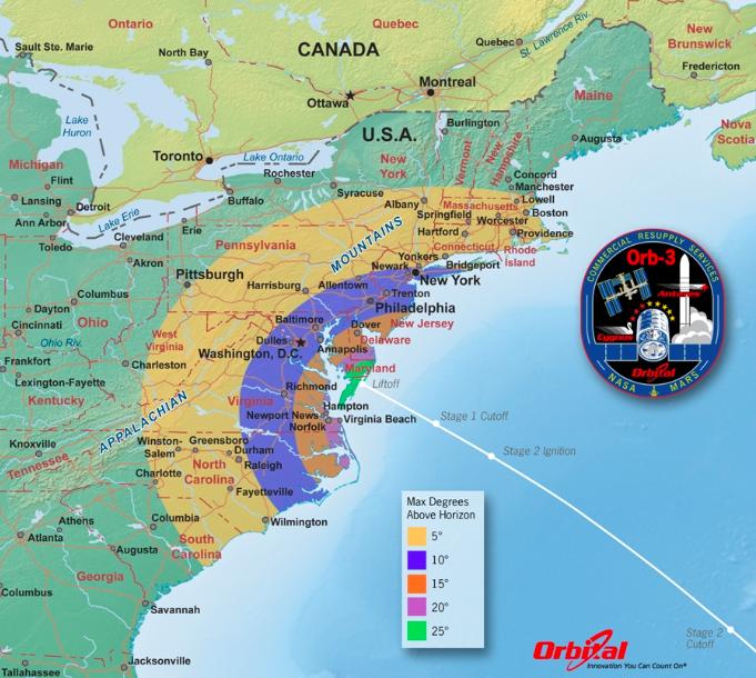 Map Of Upper East Coast  MAP